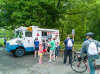 5/20 - It's bicycle Sunday on the parkway, but Harry wants ice cream.