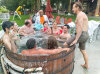 6/23 - How many can we fit in the hot tub?