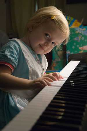 Little A Playing Piano