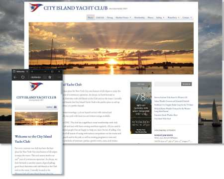 City Island Yatch Club Website