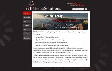SEJ Solutions website