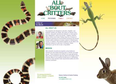 All 'Bout Critters website